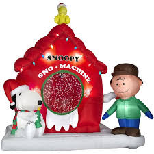 peanuts airblown inflatables snoopy christmas yard decorations decor
