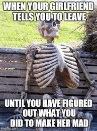 Mad Girlfriend Meme - waiting skeleton meme imgflip