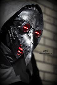plague doctor halloween costume incurable cyber plague doctor mask by twohornsunited on deviantart