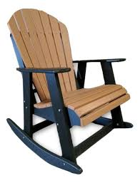 Rocking Folding Chair Rocking Chair Two Tone Made From Poly Lumber Evergreen Patio