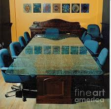 Glass Boardroom Tables Shattered Glass Boardroom Table Top Glass Art By Rick Silas