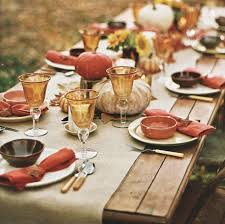 2015 thanksgiving tablecloth and setting ideas premier table