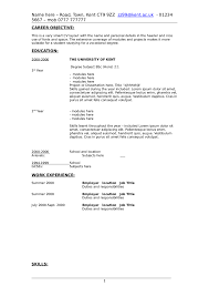 Objective On A Resume Examples Sample Resume Objective For College Student Http Www Writing A