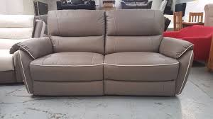 Leather Electric Recliner Sofa Scs Neo Grey Leather 3 Seater Electric Recliner Sofa Can Deliver