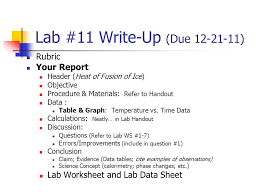 lab 23 write up due rubric your report lab worksheet ppt