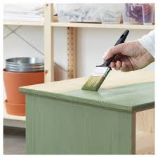Painting Ikea Furniture by Behandla Glazing Paint Green Ikea