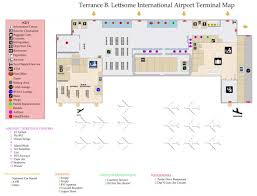 Airport Terminal Floor Plan by Terminal Map Bvi Airports Authority