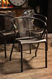 Chaise Industrielle Métal Noir Antique Déco Industrielle Chaise Ancienne En Metal Style Tolix Deco Loft Industrial