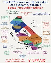 Map Southern California Booze Production Edition The 1927 Paramount Map Of Southern
