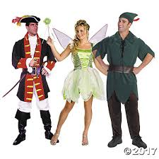 Tinkerbell Peter Pan Halloween Costumes Pan Group Costumes