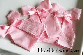 Decorative Napkin Folding 12 Baby Shower Napkin Folds The Bright Ideas Blog