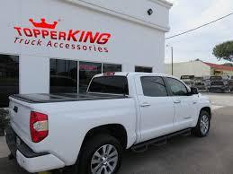 white toyota truck low profile tonneau on toyota tundra topperking topperking