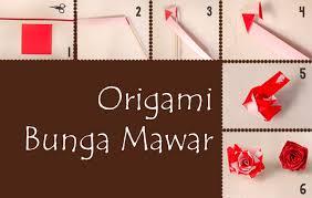 cara membuat origami bunga yang indah cara membuat origami bunga mawar paling mudah mudation com