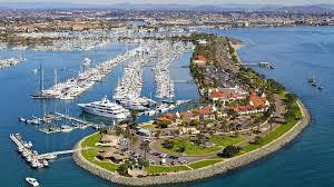 San Diego Bay Map by San Diego Marina Shelter Island Kona Kai Marina San Diego Ca