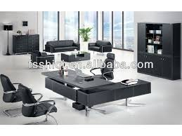Leather Office Desk Modern Iso Standard Office Table Size Pvc Leather Office Manager
