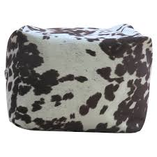 williston forge rolf cowhide pouf footstool ottoman u0026 reviews