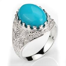 men rings stone images Bojo jewerly mens rings sterling silver 925 turquoise agate stone jpg