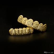 2017 new custom fit gold plated hip hop rock hop teeth grillz caps