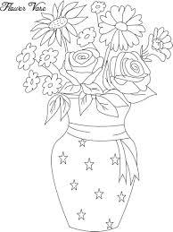 flower pot coloring page charming brmcdigitaldownloads com