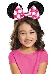 Nerd Costume Pink Minnie Mouse Child Sequin Ears Halloween Costume Accessory