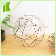 made to order different sizes glass box gold finish terrarium