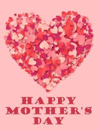 mothers day card a big heart happy s day card birthday greeting cards by