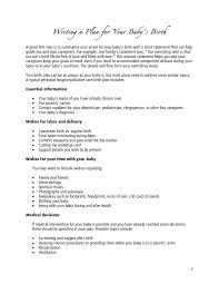 template birth plan template