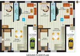 duplex house plans 1000 sq ft house plan in chennai model drawing