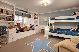 Kids Roman Shades - traditional kids bedroom with built in bookshelf u0026 crown molding