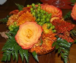bernardos flowers thanksgiving buffet table flower arrangement