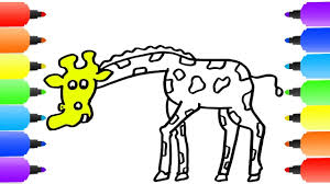 giraffe coloring pages how to draw giraffe youtube videos for