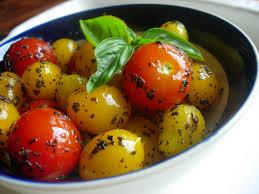 cuisiner des tomates cerises recette tomates cerises pulpeuses toutes les recettes allrecipes