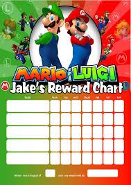 personalised super mario and luigi reward chart adding photo