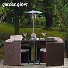 patio table with heater garden glow 4kw table top gas patio heater thompson u0026 morgan