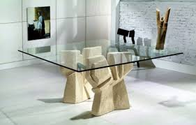 Dining Room Tables Pedestal Table Base Glass For Contemporary Home - Glass dining room table bases