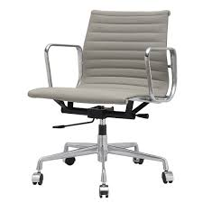Office Rolling Chairs by Low Office Chair In Grey Italian Leather