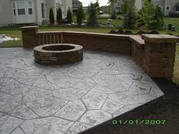 Patio Concrete Designs Cost Of Paver Patio Vs Concrete Home Outdoor Decoration