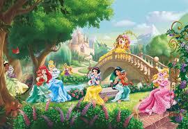 wall mural princess palace pets