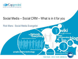 social media social crm what is in it for you