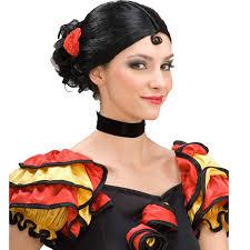Halloween Costumes Spanish Dancer Complete Señorita Cool Wig Cincodemayo