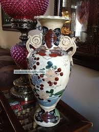 Antique Hand Painted Vases Japanese Moriage Vase Moriage Antique Japanese Moriage Large
