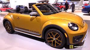 volkswagen beetle 2017 black 2017 volkswagen beetle dune convertible exterior and interior