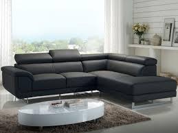 promo canapé canapé d angle en cuir anthracite angle droit prix