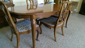 drexel heritage dining set and vintage sofa and chair antique