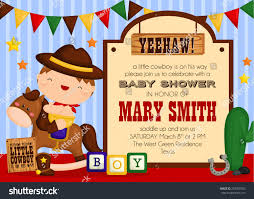 cowboy baby shower invitation stock vector 253385302 shutterstock