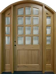 Solid Timber Front Door by Front Door Custom Single With 2 Sidelites Solid Wood With