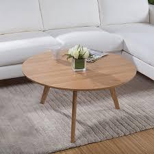round white wood coffee table 90 cm round white oak solid wood coffee table in coffee tables from
