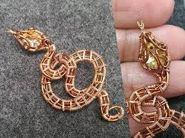 snake pendant with no hole stone halloween jewelry idea 264