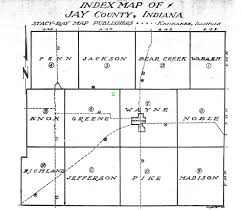 County Map Of Indiana Jay County Indiana Image Gallery Hcpr