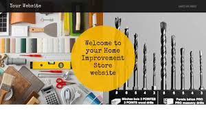 home improvement store website templates godaddy
